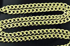 14k solid yellow gold curb link chain necklace italy 20 inch 10.00 grams #3643