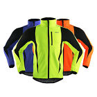 Men's Warm Thermal Fleece Coat Windproof Sports Cycling Clothing Jersey Jacket