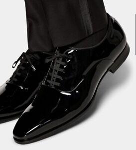 SUITSUPPLY Smoking / Tuxedo Schuhe Schwarz Lack 44,5 - NEU und Ungetragen