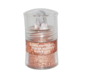 BOURJOIS GLITTERING LOOSE POWDER 07 AMBRE EYESHADOW WITH BUILT IN BRUSH **NEW**