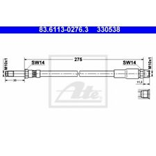 ATE Original 83.6113-0276.3 Bremsschlauch, Bremsleitung - BMW 5er