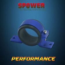 Blue Fuel Pump Bracket Anodised single Billet Aluminium Filter Clamp Cradle AU