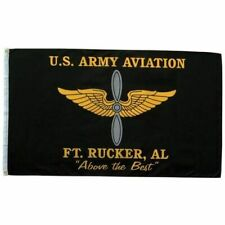 US ARMY AVIATION FORT RUCKER 3X5 FLAG. 1-SIDED FLAG. FROM MITCHELL PROFFITT