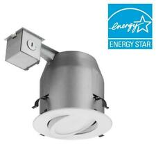 Lithonia Lighting 5 in. Matte White Recessed Gimbal Integrated LED Lighting Kit