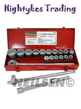 Socket Set 3/4″ 19-50mm Drive Metric 21pce Nut Socket Heavy duty