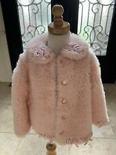 Weather Tamer Girls Red Faux Wool Toggle Coat Size 4 6X