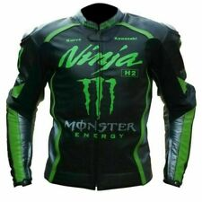 Kawasaki Ninja Monster Motorbike/ Racing Leather Jacket In All Customized Sizes