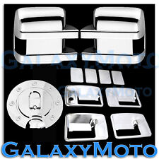 08-10 Ford Super Duty Chrome Mirror+4 Door Handle w/o PSG Keyhole+Gas Tank Cover