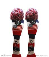 HYBRID HEADCOVER 3 5 USA GOLF Red White Blue KNIT Head Covers Headcovers