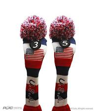 3 5 USA GOLF Driver Headcover Red White Blue KNIT Head Covers Headcovers