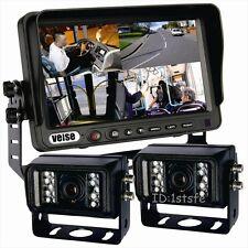 """7"""" Quad Monitor Rear View Backup Camera System+2 CAMERA 1/3"""" SONY 700TVL"""
