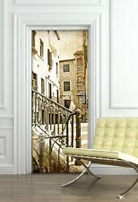 PT0004 Wall Stickers Adesivi Murali Adesivo Porta vicolo decoro 100x210cm