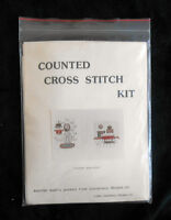1984 Counted Cross Stitch Kit by Canterbury Designs - Country Bath Pair - new