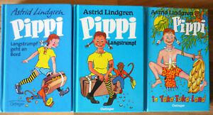 Astrid Lindgren - Pippi Langstrumpf Band 1,2 + 3 - im Mini Format Oetinger - TOP