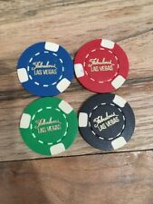 Vintage Fabulous Las Vegas Poker Chips! Set Of 4! $5,25,100,500 !
