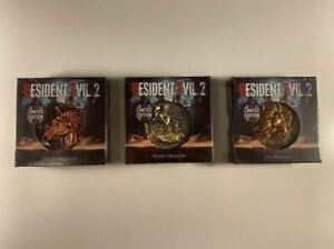 Resident Evil 2 PS4 Limited Edition Lion Unicorn Maiden Medallion Set