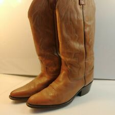Vintage Men's Dan Post Marlboro  Brown Leather Cowboy Western Boots 7.5