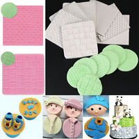 Knit Texture Silicone Fondant Mould Cake Decorating Embossed Baking Mold Tools
