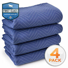 """4 Moving Blanket Furniture Pads - Deluxe Pro - 80"""" x 72"""" Royal Blue"""