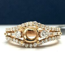 18k Rose Gold Semi-Mounting Diamond Ring. Total Diamond Weight 0.65ct.