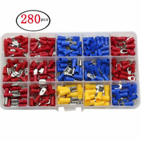 280Pcs Female Male Crimp Spade Insulated Assorted 2.8-6.3mm Terminal Electrical