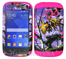 For Samsung Galaxy Ace Style S765c KoolKase Hybrid Cover Case Camo Mossy Purple