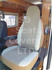 TO FIT A PEUGEOT BOXER MOTORHOME, 2014, SEAT COVERS, TAFFINO BEIGE, 2 FRONTS