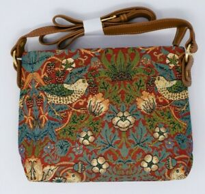 Crossbody Tapestry Bag Strawberry Thief Design by Sainty - FREE Shipping