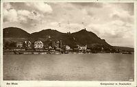 Königswinter am Rhein alte Ansichtskarte 1930 Gesamtansicht mit Drachenfels