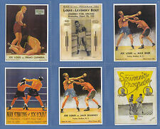 BOXING  -  SPORTING  PROFILES -  SET  OF  25  JOE  LOUIS  BOXING  CARDS  -  2000