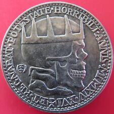 KING SKULL CROWNED GERMAN MEDAL COIN