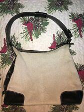Vintage Dooney & Bourke Woven Tote Hobo W/ Black Vachetta Leather Handbag 👜