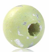 300 Stück Holzperlen Rund, Hellgrün Silber, D. 8mm, Loch 2,6mm Schmuck Basteln