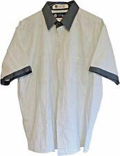 XL Mens Used Work Shirts Uniform Short Sleeve Green w/ pockets UniWeave Unifirst