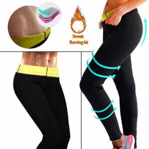 Hot Neopren Sauna Hose Schwitzhose Damen Yoga Hose Thermoeffekt Abnehmen Hose