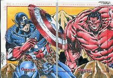Marvel Greatest Battles Panel Sketch Card By Dan Borgonos