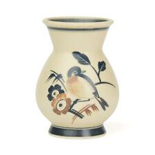 ART DECO ROYAL COPENHAGEN ALUMINIA VASE WITH BIRD C.1927-32