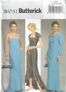 Butterick Sewing Pattern 4731, Evening Dresses & Shrugs, Size 6-12, 14-20, New