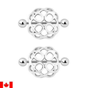 Pair Hollow Nest Nipple Rings Clip barbell Turtle Shell Nipple Shield sexy woman
