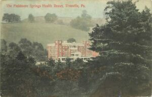 C-1910 Fieldmore Springs Health Resort Titusville Pennsylvania Postcard 21-1966