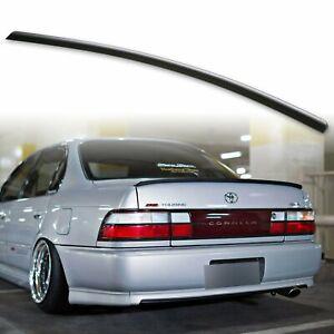 Fyralip Trunk Lip Spoiler For Toyota Corolla E100 7th gen Sedan 93-97 Unpainted