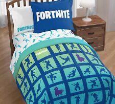 New Fortnite Boogie Twin/Full Super Soft Reversible Bedding Comforter Sham Set