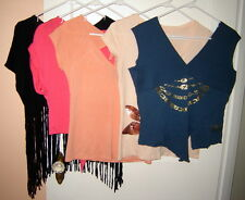 LOT (5 pcs) Women's Glam Cropped Knit Tops (S/M) Express, Bebe, Gap, Ecko Red...