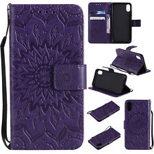 Sun Embossed Flip Card Stand Case Wallet Cover For Samsung Galaxy Series Phone