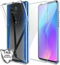 For Xiaomi Mi 9T Pro Case Crystal Clear Gel Phone Cover & Glass Screen Protector