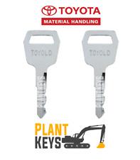 Toyota Forklift New Generation Key (Set of 2) Keys 511416 TOYOLD