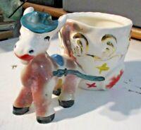 rarissima ceramica italiana anni 30 CIUCHINO PINOCCHIO PORTAFIORI bellissimo NSI