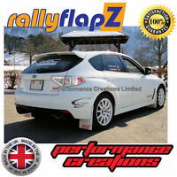 Custom Mudflaps SUBARU IMPREZA Sedan (2010-2014) rallyflapZ 4mm PVC White