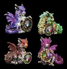 Drachen Figuren 4er Set - Die Belohnung - Fantasy Drachenfiguren Deko