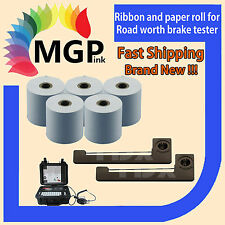 ERC05 ribbon and paper roll replacement package for road worth brake tester